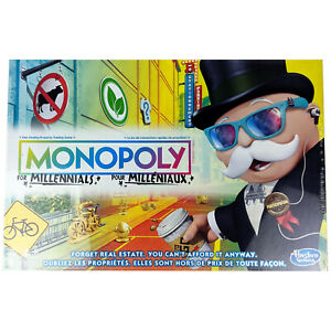 Monopoly for Millennials Board Game.