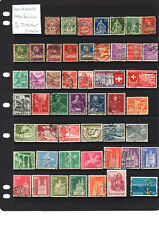 SWITZERLAND,  Early Selection ,  70 Stamps all Different 2 SCANS