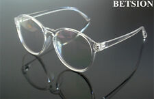 Retro Transparent Oversize Eyeglass Frames Oval Glasses Eyewear Rx Anti UV400