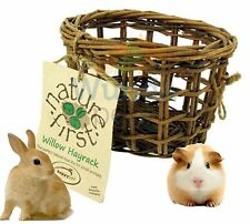 NATURE FIRST SMALL ANIMAL RABBIT GUINEA PIG NATURAL NIBBLE WILLOW HAYRACK 31099