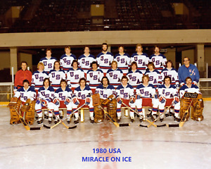 1980 USA 8X10 TEAM PHOTO MIRACLE ON ICE HOCKEY OLYMPIC GOLD MEDAL US PICTURE