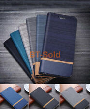 Canvas Flip PU Leather Stand Wallet Case Cover For Huawei Honor 8 Lite 6X V9