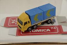 Tomica #74Mitsubishi Fuso Container Truck diecast 1/102 scale model 1/64