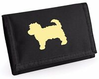 Cavapoo Wallet with Dog Silhouette Design Birthday Gift Cavalier mix