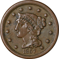 1857 Large Cent 'Small Date' Choice XF+ Superb Eye Appeal Strong Strike