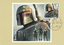 (61959) Gb Phq Postcard Fdi Star Wars Boba Fett Science Fiction Wells 2015
