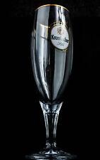 Krombacher Bier Glas, Gläser, Bierglas, Biergläser, Goldrand Pokal 0,4l