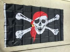Pirate Logo Family Gathering Competition Black 3x5 Ft Flag Banner