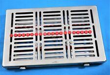 1 German Dental Autoclave Sterilization Cassette Rack Tray For 20 Instrument Red