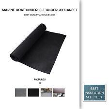 Yacht Boat Marine Deck Board Carpet Underfelt Carpets 2 Meter Width By Mtr Black