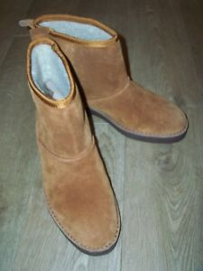 NEW CLARKS Drafty Day Leather Suede Ankle Boots Size UK 8D