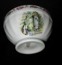 ancien bol porcelaine de limoges sainte vierge lourdes