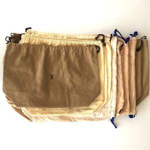 100% Authentic Louis Vuitton Set of 10 Dust Bag Brown Cotton [USED] {05-0083}