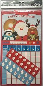 2 x Christmas Large Behaviour Reward Charts Countdown To XMAS