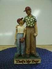 """9 1/2"""" Jim Shore """"That's my Boy"""" father/son figurine-Nwt"""