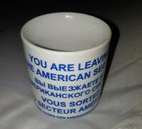 "Cold War era Berlin Wall"" You are living the American sector vintage Coffee mug"