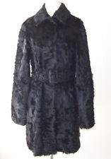 DOLCE & GABBANA D&G Black Lamb Fur Belted Coat 42  6