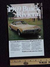 1969 Buick Riviera Print Ad 6-1/2x10, 430 69 Advertisement Advertising GM GS