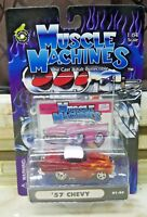 1:64 Muscle Machines 01-88 '57 CHEVY Die Cast 2002