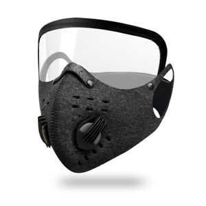 Windproof Outdoor Face Protective Face Mask with Eyes Shield Integrated mask US~