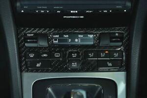 Carbon Fiber AC Control Panel - Porsche 991 Carrera, 981/982 Cayman & Boxster