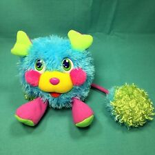 "Popples Popp N Giggles Mini Message RiddlePopp Plush Talking Blue Puffling 5"" Gc"