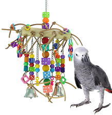 1746 Leather Chain Waterfall Bonka Bird Toys Parrot Cage Toy Cages African Grey