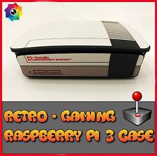 Raspberry Pi 3 case Retro style gaming NES (Use with Retropie or Kodi)