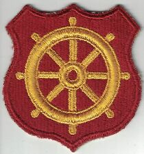 WWII US Army Ports of Embarkation SSI Patch Cut Edge Helmsman Wheel