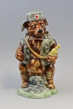 9959540 Porcelaine Sammler-Figuren-Bierkrug Ours avec Russe Ens H30cm