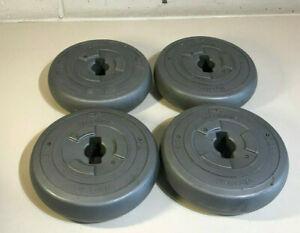 """4 x 2kg Orbatron Vinyl Weights Dumbells 1"""" Fitness Gym 8kg Total"""