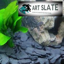 Art Slate Fish Tank Black Dark Gravel 10kg Aquarium Natural Stone Decoration