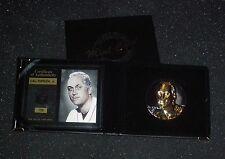 CAL RIPKEN BALT. ORIOLES HIGHLAND MINT MAGNUM COIN 999 SILVER W/ 24KT GOLD ROUND