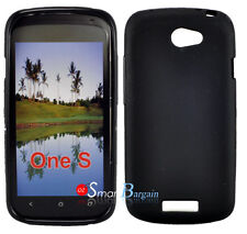 New Premium BLACK Soft Gel TPU Cover Case For HTC One S + Screen Protector