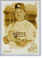 Mike Piazza 2019 Allen and Ginter 5x7 Gold #35 /10 Dodgers