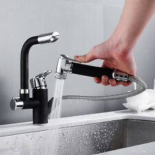 Kitchen Sink Mixer Taps 360°Swivel Spout with Pull Out Spray Water faucet