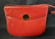 "Vintage Red Patent Leather Purse Handbag Single Compartment 8.5""×6.5"" FREE SHIP"