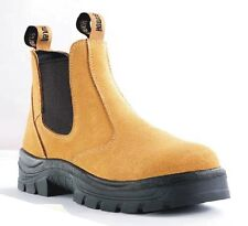 Howler Suede Slip On Safety Boots Size 4-14