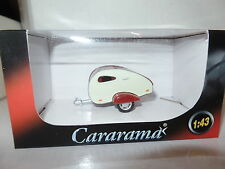 Cararama Oxford 1/43 Scale Caravan 1 Red & White Teardrop