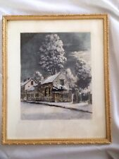 Original Maurice Jacques -Signed Hand Coloured Etching Barbizon