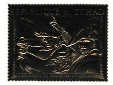 Chad 7298 - NAPOLEON  embossed in GOLD FOIL perf unmounted mint