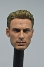 Custom 1/6 Scale Captain America Steve Rogers Male Head Sculpt HOT HEART New