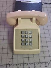 Vintage Bell System Western Electric Beige Push Button Desk Phone Model 2500DM