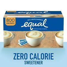 Equal Cero Calorías Edulcorante, Azúcar Sustituto, 800 Paquetes