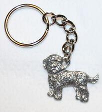 Cockapoo Dog Fine Pewter Keychain Key Chain Ring Fob