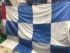 bandierone GIGANTE NAPOLI CAMPIONI scacchi Biancoazzurro 330x235 cucito bandiera