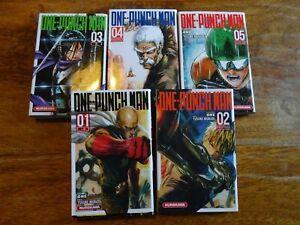 manga 5 tomes ONE PUNCH MAN serie dessins pika glenat clamp