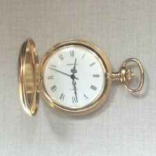 Nastrix Swiss Pocket Watch 17 Jewel Incabloc Wind-up Hunting Case Gold Plated!