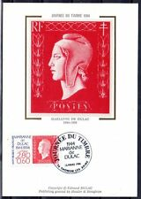 FRANCE FDC - 1994 2 JOURNEE DU TIMBRE - 2863 - THONON -SUR CARTE POSTALE soie
