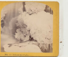 Below the Falls Frozen with a trout Kilburn Stereoview c1870